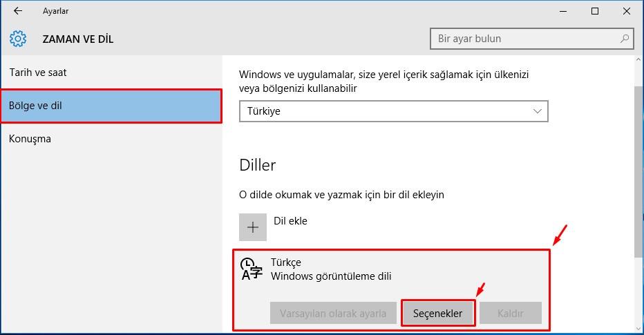 Windows 10 Klavye Değişikliği (3)