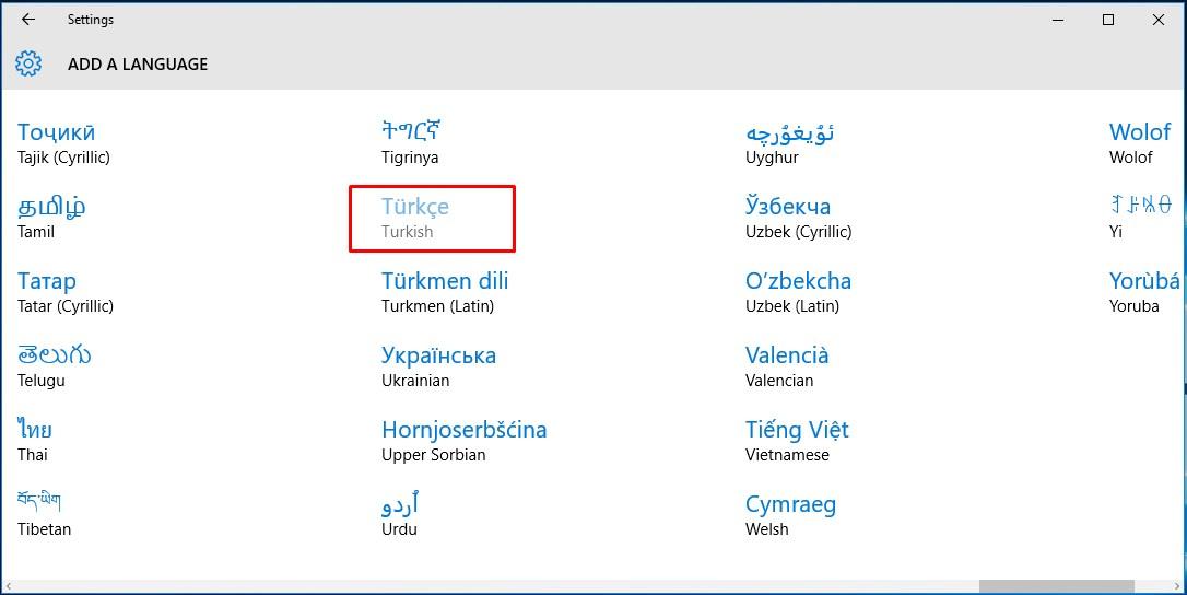 Windows 10 Türkçe Dil Paketi Yükleme (4)