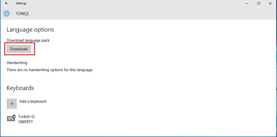 Windows 10 Türkçe Dil Paketi Yükleme (6)