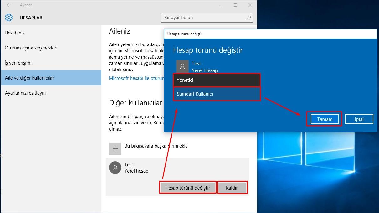Windows 10 Yeni Kullanıcı Hesabı Ekleme (7)