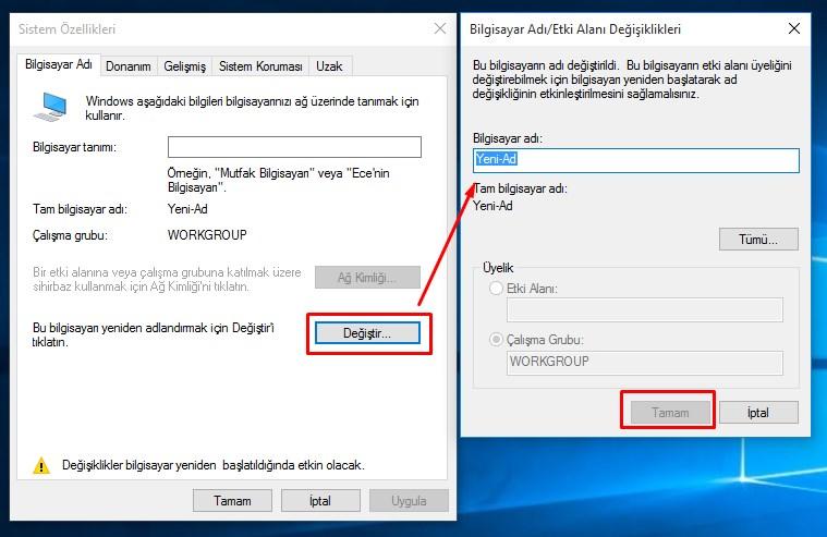 bilgisayar adını değiştirme (2)