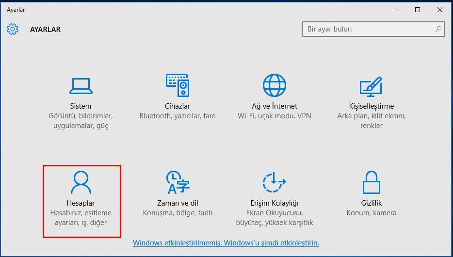 windows 10 şifre değiştirme (2)
