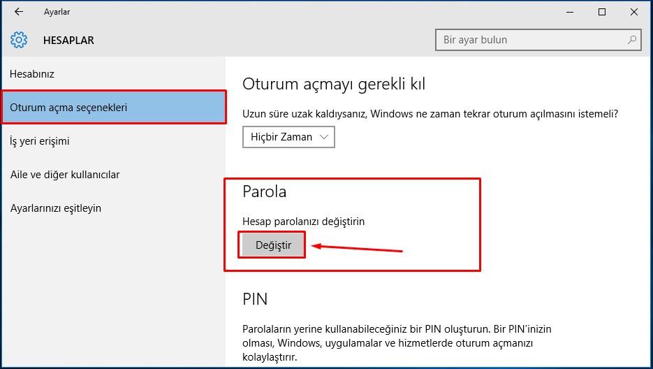 windows 10 şifre değiştirme (3)
