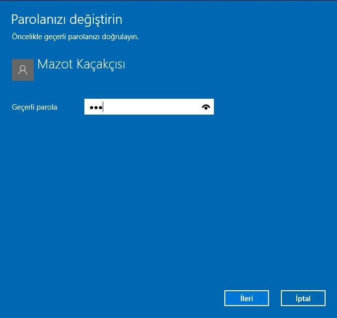 windows 10 şifre değiştirme (4)