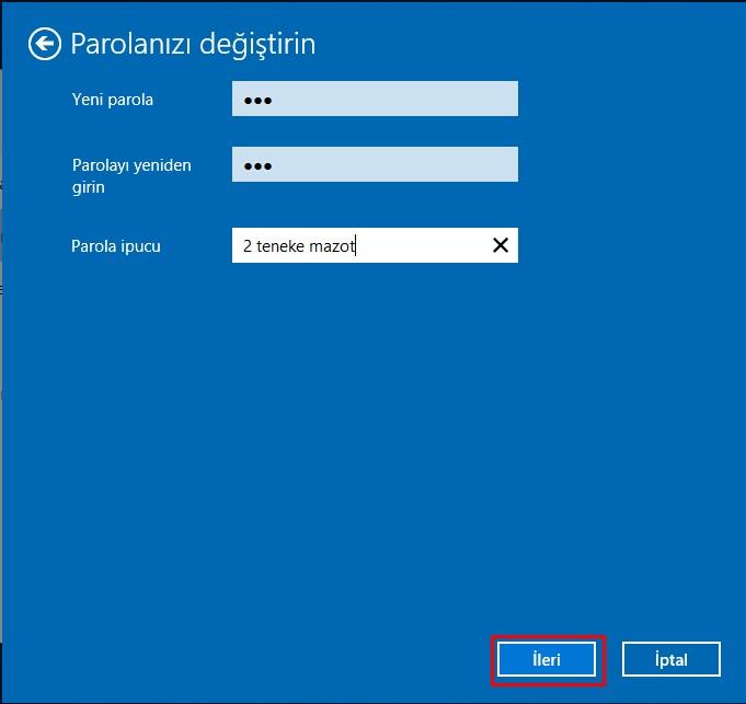 windows 10 şifre değiştirme (5)