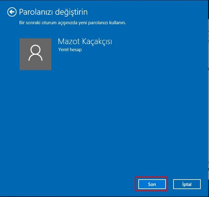 windows 10 şifre değiştirme (6)