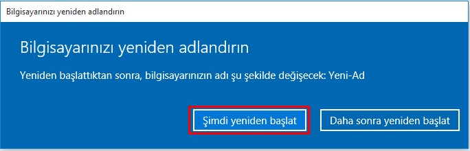 windows 10 bilgisayar adı değiştime (4)