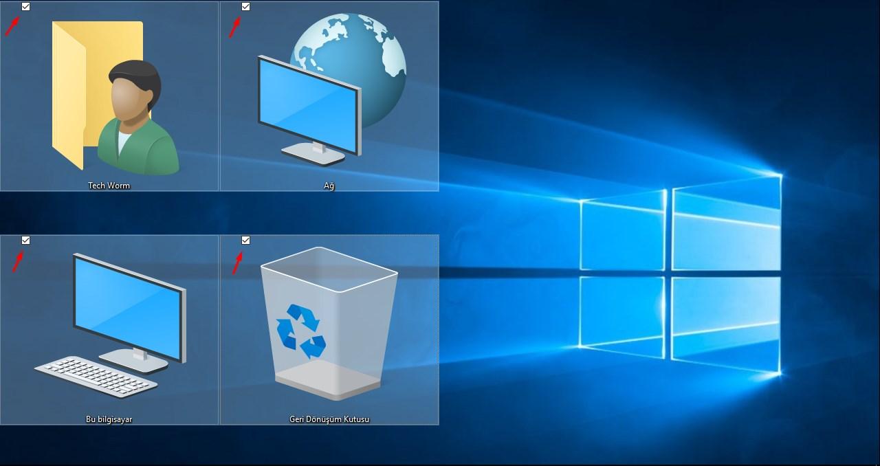windows 10 onay kutusu kaldırma