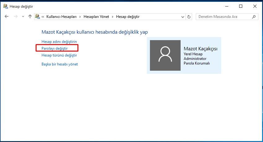 windows 10 parola değiştirme (4)