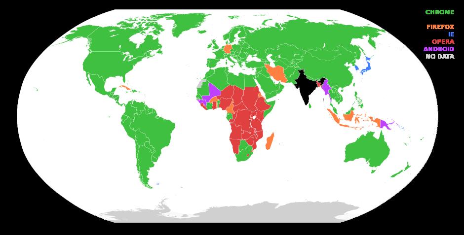 dünya tarayıcı kullanım oranları 2016