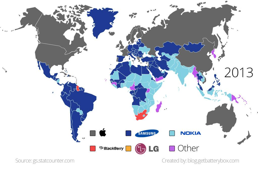 en çok kullanılan telefon 2013
