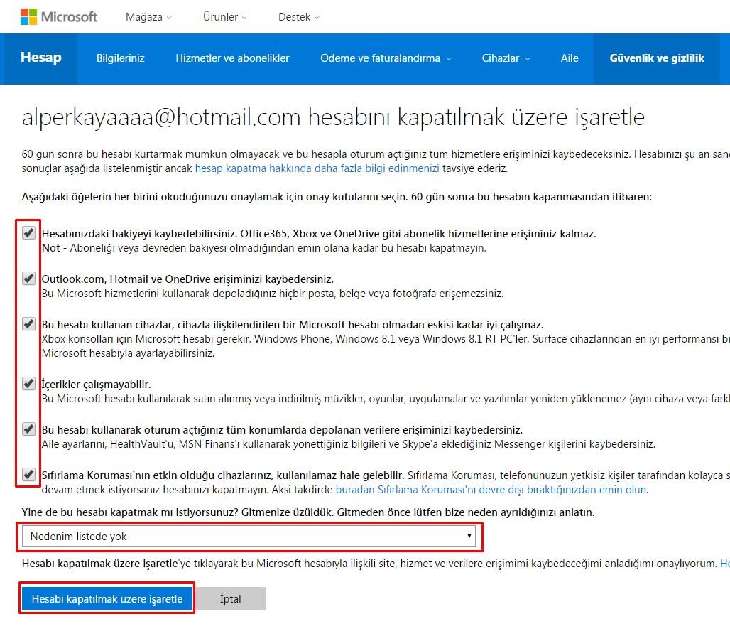 hotmail hesabı kapatma (6)
