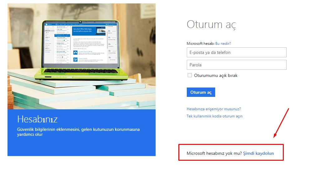 microsoft hesabı açma (1)