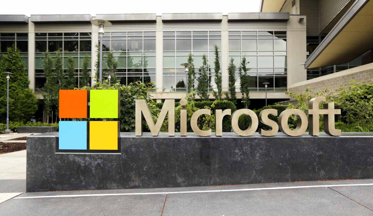 This photo taken July 3, 2014 shows the Microsoft Corp. logo outside the Microsoft Visitor Center in Redmond, Wash. (AP Photo Ted S. Warren) ORG XMIT: WATW202