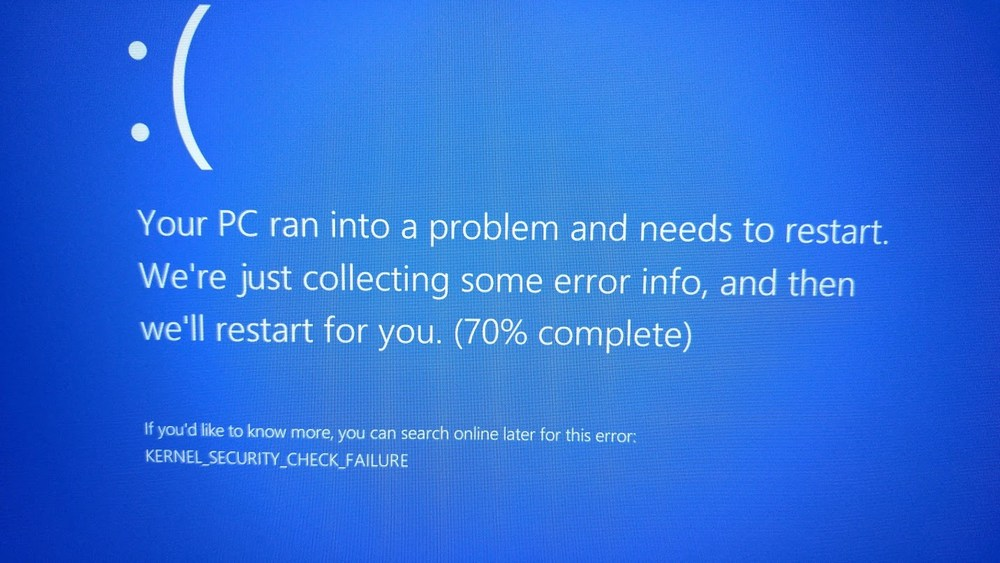windows 10 kernel security check failure
