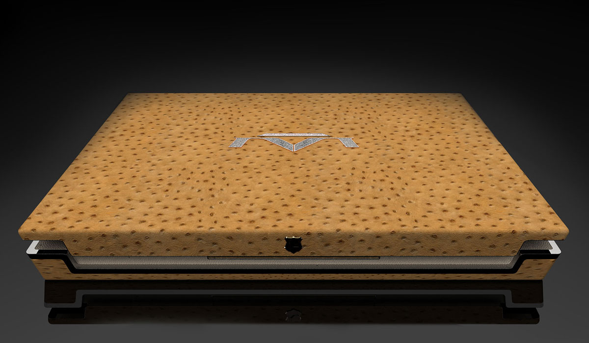 The million dollar laptop produced by the London-based luxury manufacturer, Luvaglio, is officially known as the most expensive laptop money can buy