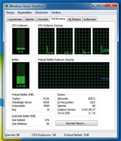 bilgisayar açık kalma süresi