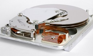 Inner view of a hard disk drive Seagate Medalist ST33232A
