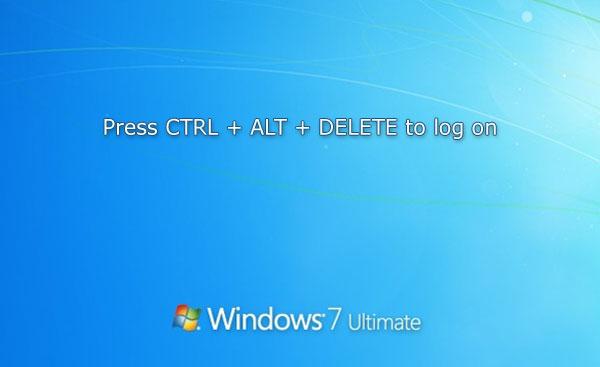 how to change ctrl alt del in windows 7