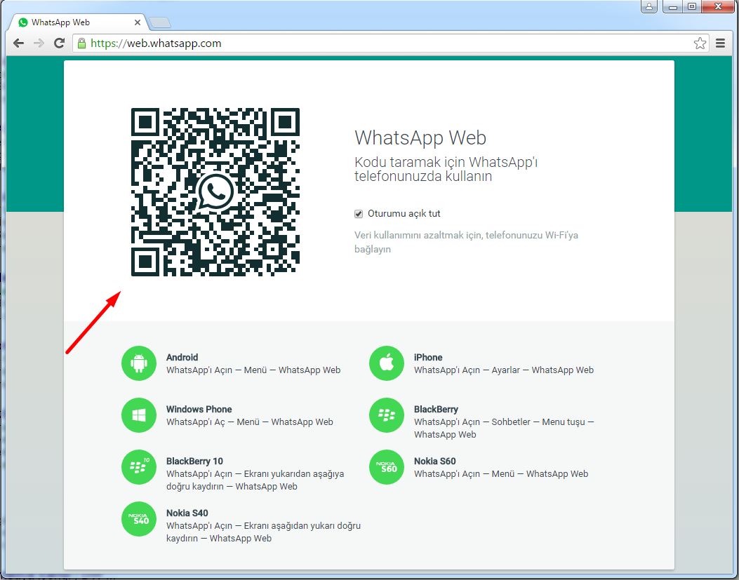whatsapp web kod