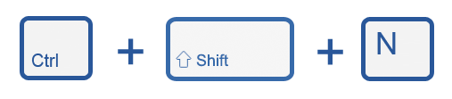 ctrl shift n