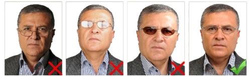 gözlükle biometrik fotoğraf