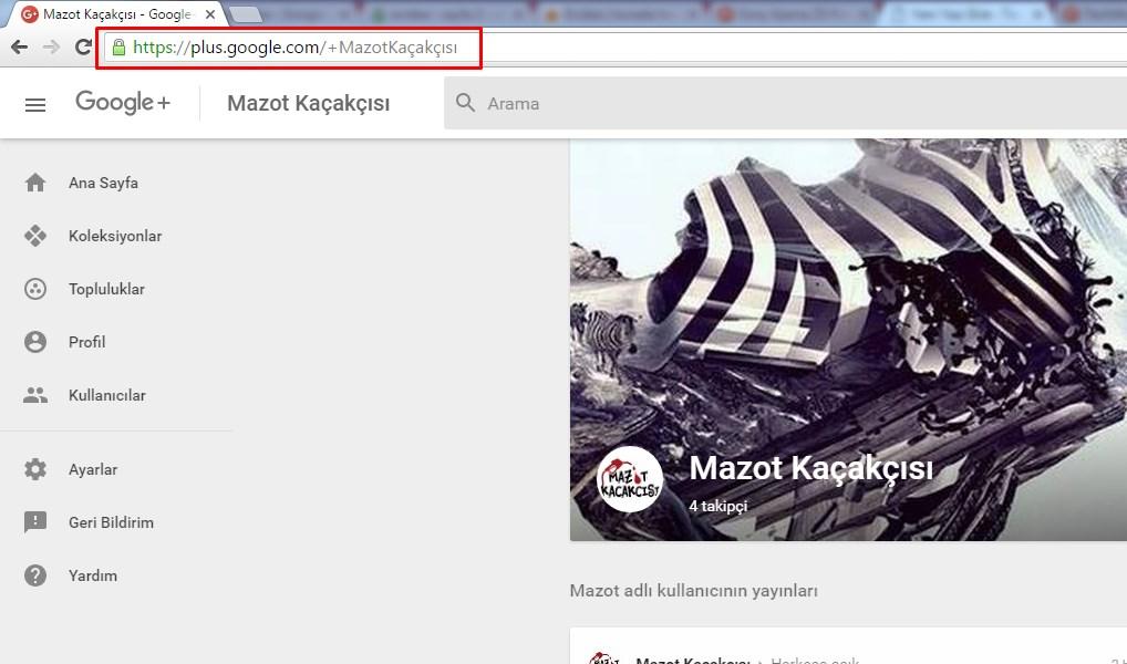 google plus url