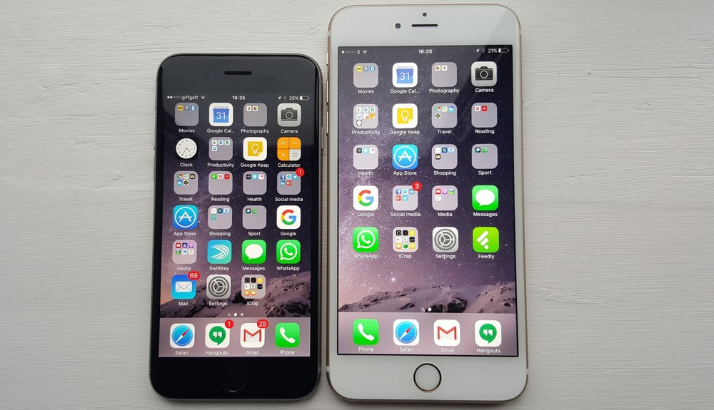 iphone 6s vs 6s plus