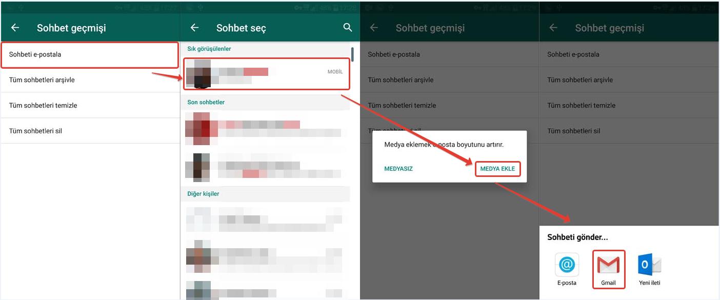 Bölüm 2. Diğer 4 Yolları Android'e iPhone'dan WhatsApp Mesajları Transfer